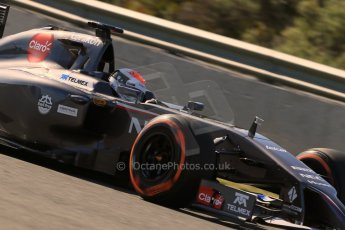 World © Octane Photographic Ltd. 2014 Formula 1 Winter Testing, Circuito de Velocidad, Jerez. Thursday 30th January 2014. Day 3. Sauber C33 Ferrari – Adrian Sutil. Digital Ref: 0887lb1d2347