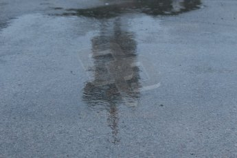 World © Octane Photographic Ltd. 2014 Formula 1 Winter Testing, Circuito de Velocidad, Jerez. Friday 31st January 2014. Day 4. The Tio Pepe tower reflected in the puddles. Digital Ref: 0888cb1d1249
