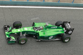 World © Octane Photographic Ltd. 2014 Formula 1 Winter Testing, Circuito de Velocidad, Jerez. Friday 31st January 2014. Day 4. Caterham F1 Team CT05 – Kamui Kobayashi. Digital Ref: 0888cb1d1576
