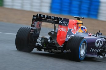 World © Octane Photographic Ltd. 2014 Formula 1 Winter Testing, Circuito de Velocidad, Jerez. Friday 31st January 2014. Day 4. Infiniti Red Bull Racing RB10 – Daniel Ricciardo. Rear end detail. Digital Ref: 0888lb1d2782