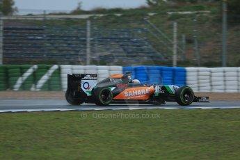 World © Octane Photographic Ltd. 2014 Formula 1 Winter Testing, Circuito de Velocidad, Jerez. Friday 31st January 2014. Day 4. Sahara Force India VJM07 – Daniel Juncadella. Digital Ref: 0888lb1d2891