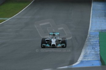 World © Octane Photographic Ltd. 2014 Formula 1 Winter Testing, Circuito de Velocidad, Jerez. Friday 31st January 2014. Day 4. Mercedes AMG Petronas F1 W05 - Nico Rosberg. Digital Ref: 0888lb1d3083