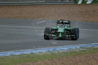 World © Octane Photographic Ltd. 2014 Formula 1 Winter Testing, Circuito de Velocidad, Jerez. Friday 31st January 2014. Day 4. Caterham F1 Team CT05 – Kamui Kobayashi. Digital Ref: 0888lb1d3314