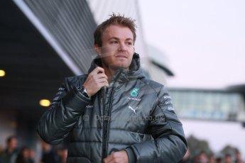 World © Octane Photographic Ltd. 2014 Formula 1 Winter Testing, Circuito de Velocidad, Jerez. Tuesday 27th January 2014. Mercedes AMG Petronas F1 W05 launch - Nico Rosberg. Digital Ref: 0884cb1d9114
