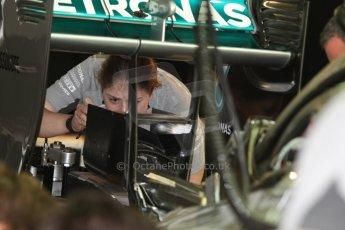 World © Octane Photographic Ltd. Thursday 22nd May 2014. Monaco - Monte Carlo - Formula 1 Practice 1. Mercedes AMG Petronas F1 W05 Hybrid - Rear wing. Digital Ref: 0958CB7D2018
