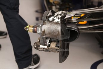 World © Octane Photographic Ltd. Thursday 22nd May 2014. Monaco - Monte Carlo - Formula 1 Practice 1. Infiniti Red Bull Racing RB10 - Front brake with sheathing removed. Digital Ref: 0958CB7D2057