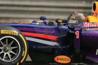 World © Octane Photographic Ltd. Thursday 22nd May 2014. Monaco - Monte Carlo - Formula 1 Practice 1. Infiniti Red Bull Racing RB10 - Sebastian Vettel. Digital Ref: 0958LB1D3606