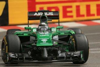 World © Octane Photographic Ltd. Thursday 22nd May 2014. Monaco - Monte Carlo - Formula 1 Practice 1. Caterham F1 Team CT05 – Kamui Kobayashi. Digital Ref: 0958LB1D3628