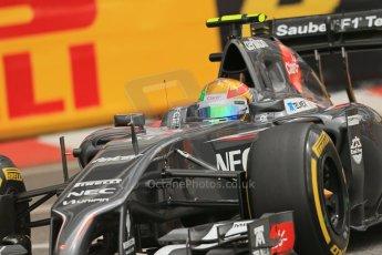 World © Octane Photographic Ltd. Thursday 22nd May 2014. Monaco - Monte Carlo - Formula 1 Practice 1. Sauber C33 - Esteban Gutierrez. Digital Ref: 0958LB1D3648