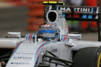 World © Octane Photographic Ltd. Thursday 22nd May 2014. Monaco - Monte Carlo - Formula 1 Practice 1. Williams Martini Racing FW36 – Valtteri Bottas Digital Ref: 0958LB1D3672