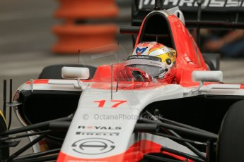World © Octane Photographic Ltd. Thursday 22nd May 2014. Monaco - Monte Carlo - Formula 1 Practice 1. Marussia F1 Team MR03 - Jules Bianchi. Digital Ref: 0958LB1D3692