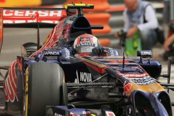 World © Octane Photographic Ltd. Thursday 22nd May 2014. Monaco - Monte Carlo - Formula 1 Practice 1. Scuderia Toro Rosso STR 9 – Daniil Kvyat. Digital Ref: 0958LB1D3754