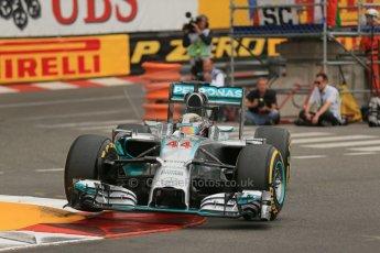 World © Octane Photographic Ltd. Thursday 22nd May 2014. Monaco - Monte Carlo - Formula 1 Practice 1. Mercedes AMG Petronas F1 W05 Hybrid – Lewis Hamilton. Digital Ref: 0958LB1D3830