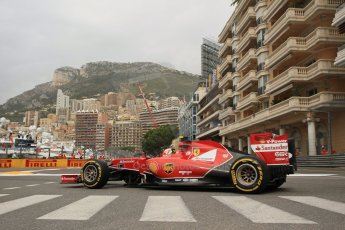 World © Octane Photographic Ltd. Thursday 22nd May 2014. Monaco - Monte Carlo - Formula 1 Practice 1. Scuderia Ferrari F14T – Kimi Raikkonen. Digital Ref: 0958LB1D6121