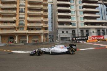 World © Octane Photographic Ltd. Thursday 22nd May 2014. Monaco - Monte Carlo - Formula 1 Practice 1. Williams Martini Racing FW36 – Valtteri Bottas Digital Ref: 0958LB1D6308