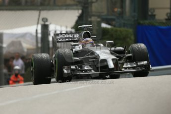 World © Octane Photographic Ltd. Thursday 22nd May 2014. Monaco - Monte Carlo - Formula 1 Practice 2. McLaren Mercedes MP4/29 - Jenson Button. Digital Ref: 0960LB1D4662