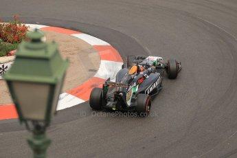 World © Octane Photographic Ltd. Thursday 22nd May 2014. Monaco - Monte Carlo - Formula 1 Practice 2. Sahara Force India VJM07 – Nico Hulkenburg. Digital Ref : 0960LB1D6707