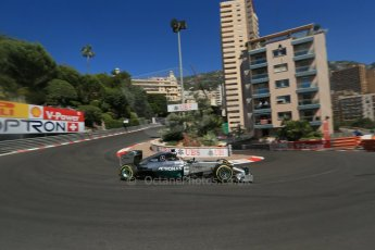 World © Octane Photographic Ltd. Saturday 24th May 2014. Monaco - Monte Carlo - Formula 1 Practice 3. Mercedes AMG Petronas F1 W05 Hybrid – Lewis Hamilton. Digital Ref: 0965LB1D7058