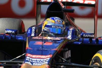 World © Octane Photographic Ltd. Saturday 24th May 2014. Monaco - Monte Carlo - Formula 1 Practice 3. Scuderia Toro Rosso STR9 - Jean-Eric Vergne. Digital Ref: 0965LB1D7191