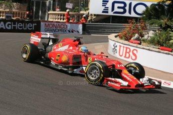 World © Octane Photographic Ltd. Saturday 24th May 2014. Monaco - Monte Carlo - Formula 1 Practice 3. Scuderia Ferrari F14T - Fernando Alonso. Digital Ref: 0965LB1D7241