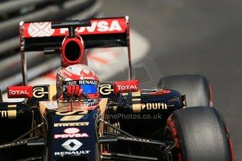 World © Octane Photographic Ltd. Saturday 24th May 2014. Monaco - Monte Carlo - Formula 1 Practice 3. Lotus F1 Team E22 - Romain Grosjean. Digital Ref: 0965LB1D7546