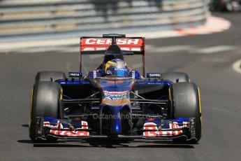 World © Octane Photographic Ltd. Saturday 24th May 2014. Monaco - Monte Carlo - Formula 1 Practice 3. Scuderia Toro Rosso STR9 - Jean-Eric Vergne. Digital Ref: 0965LB1D7582