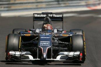 World © Octane Photographic Ltd. Saturday 24th May 2014. Monaco - Monte Carlo - Formula 1 Practice 3. Sauber C33 – Adrian Sutil. Digital Ref: 0965LB1D7598