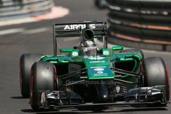 World © Octane Photographic Ltd. Saturday 24th May 2014. Monaco - Monte Carlo - Formula 1 Practice 3. Caterham F1 Team CT05 – Kamui Kobayashi. Digital Ref: 0965LB1D7690
