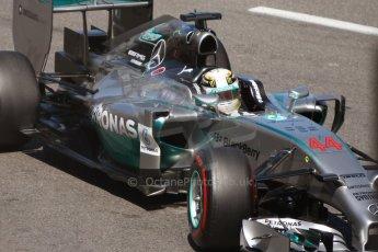 World © Octane Photographic Ltd. Saturday 24th May 2014. Monaco - Monte Carlo - Formula 1 Qualifying. Mercedes AMG Petronas F1 W05 Hybrid – Lewis Hamilton. Digital Ref: 0967CB7D3250