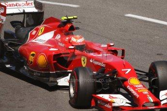 World © Octane Photographic Ltd. Saturday 24th May 2014. Monaco - Monte Carlo - Formula 1 Qualifying. Scuderia Ferrari F14T – Kimi Raikkonen. Digital Ref: 0967CB7D3257