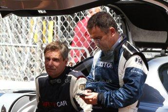 World © Octane Photographic Ltd. Saturday 24th May 2014. Monaco - Monte Carlo - Formula 1 Qualifying. FIA safety car driver - Bernd Maylander and FIA Doctor - Dr.Ian Roberts. Digital Ref: 0967CB7D3353