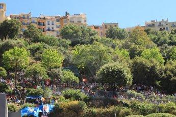 World © Octane Photographic Ltd. Saturday 24th May 2014. Monaco - Monte Carlo - Formula 1 Qualifying. The crowd at Rascasse. Digital Ref: 0967CB7D5369