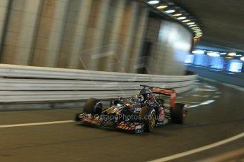 World © Octane Photographic Ltd. Saturday 24th May 2014. Monaco - Monte Carlo - Formula 1 Qualifying. Scuderia Toro Rosso STR9 - Jean-Eric Vergne. Digital Ref: 0967LB1D8174