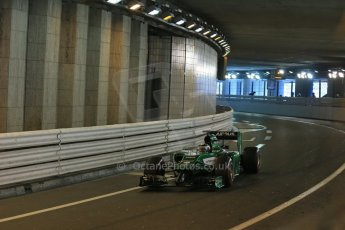 World © Octane Photographic Ltd. Saturday 24th May 2014. Monaco - Monte Carlo - Formula 1 Qualifying. Caterham F1 Team CT05 – Kamui Kobayashi. Digital Ref: 0967LB1D8187