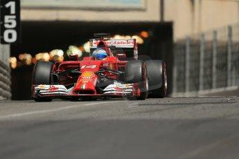 World © Octane Photographic Ltd. Saturday 24th May 2014. Monaco - Monte Carlo - Formula 1 Qualifying. Scuderia Ferrari F14T - Fernando Alonso. Digital Ref: 0967LB1D8257