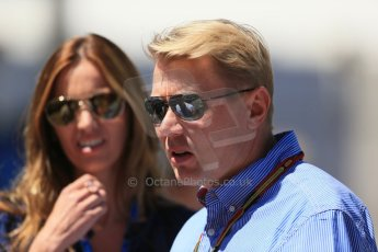 World © Octane Photographic Ltd. Saturday 24th May 2014. Monaco - Monte Carlo - Formula 1 Qualifying. Mika Hakkinen - Fernando Alonso. Digital Ref:  0967LB1D8275