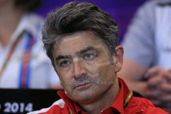 World © Octane Photographic Ltd. Thursday 22nd May 2014. Monaco - Monte Carlo - Formula 1 Press conference. Scuderia Ferrari - Matteo Mattiacci. Digital Ref: 0961LB1D4780