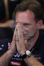 World © Octane Photographic Ltd. Thursday 22nd May 2014. Monaco - Monte Carlo - Formula 1 Press conference. Infiniti Red Bull Racing Team Principle - Christian Horner. Digital Ref: 0961LB1D4931
