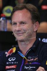 World © Octane Photographic Ltd. Thursday 22nd May 2014. Monaco - Monte Carlo - Formula 1 Press conference. Infiniti Red Bull Racing Team Principle - Christian Horner. Digital Ref: 0961LB1D4942