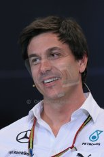 World © Octane Photographic Ltd. Thursday 22nd May 2014. Monaco - Monte Carlo - Formula 1 Press conference. Mercedes AMG Petronas F1 Executive Director - Toto Wolff. Digital Ref: 0961LB1D4952