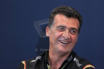 World © Octane Photographic Ltd. Thursday 22nd May 2014. Monaco - Monte Carlo - Formula 1 Press conference. Lotus F1 Team Deputy Team Principle - Federico Gastaldi. Digital Ref: 0961LB1D4985
