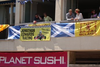 World © Octane Photographic Ltd. Friday 23rd May 2014. GP2 Feature Race – Monaco, Monte Carlo. Fans watch from the balconies. Digital Ref : 0963CB7D3016