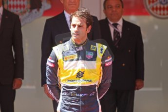 World © Octane Photographic Ltd. Friday 23rd May 2014. GP2 Feature Race – Monaco, Monte Carlo. Felipe Nasr (3rd) on the podium) - Carlin. Digital Ref : 0963CB7D3173