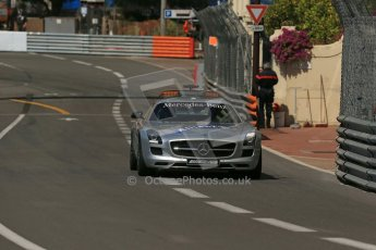 World © Octane Photographic Ltd. Friday 23rd May 2014. GP2 Feature Race – Monaco, Monte Carlo. FIA Safety Car - Mercedes SLS AMG on green flag lap. Digital Ref : 0963LB1D4999