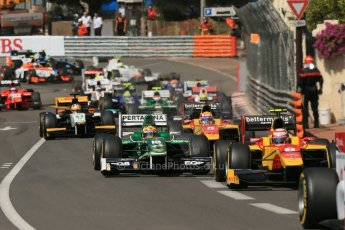 World © Octane Photographic Ltd. Friday 23rd May 2014. GP2 Feature Race – Monaco, Monte Carlo. The pack heads towards Casino square. Digital Ref : 0963LB1D5156