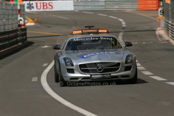 World © Octane Photographic Ltd. Friday 23rd May 2014. GP2 Feature Race – Monaco, Monte Carlo. FIA Safety Car deployed for the 1st of 3 times - Mercedes SLS AMG on green flag lap. Digital Ref : 0963LB1D5305