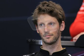 World © Octane Photographic Ltd. Wednesday 21st May 2014. Monaco - Monte Carlo - Formula 1 Drivers' Press Conference. Romain Grosjean - Lotus F1 Team. Digital Ref : 0955lb1d2890