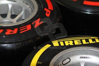 World © Octane Photographic Ltd. Saturday 21st May 2014. GP2 Paddock – Monaco, Monte Carlo. Pirelli GP2 tyre choices. Digital Ref: 0954cb7d1910