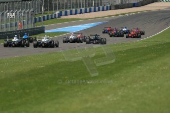World © Octane Photographic Ltd. Protyre Formula Renault Championship. June 1st 2014.  Race 2 – Castle Donington. Pietro Fittipaldi leads the pack off the line at the start. Digital Ref : 0975CB1D0626