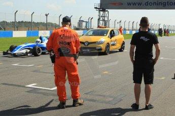 World © Octane Photographic Ltd. Protyre Formula Renault Championship. June 1st 2014.  Race 2 – Castle Donington.  Alex Gill - Fortec Motorsports and Renault Safety Car. Digital Ref : 0975CB1D8880